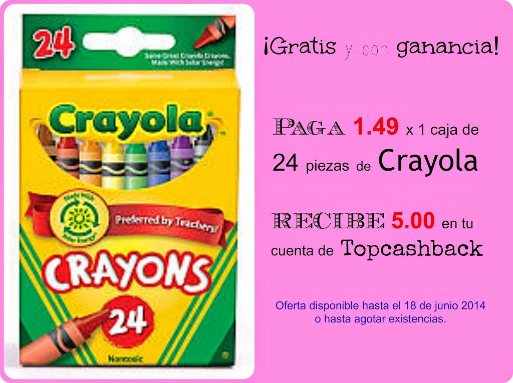 Gratis y con ganancia caja de Crayola con 24 piezas - El Tintero de Mama