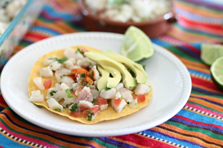 Ceviche de pescado al estilo mexicano