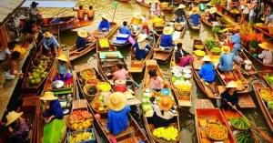 Mercados flotantes -Tailandia