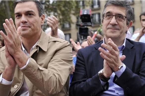 Patxi López y Pedro Sánchez