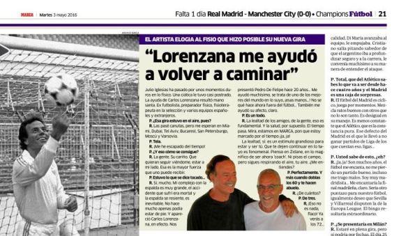 Penvención de lesiones con Carlos Lorenzana
