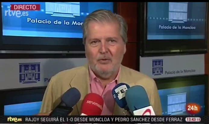 1-O El Gobierno da por anulado el referéndum ilegal según Iñigo Méndez de Vigo