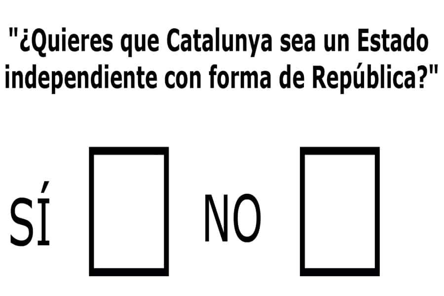 ¿Estás a favor de que se celebre el referéndum el próximo 1 de octubre?