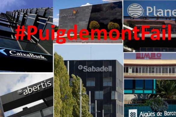 500 empresas huyen de Cataluña. #PuigdemontFail