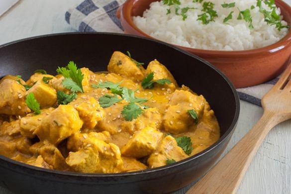 Pollo al curry, una receta exótica de cocina fácil, sencilla y deliciosa