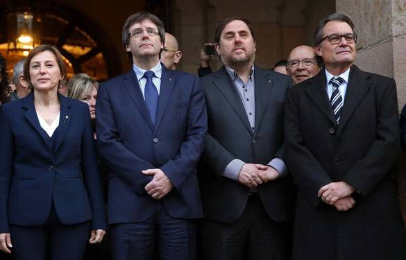 Puigemont, Junqueras, Forcadell