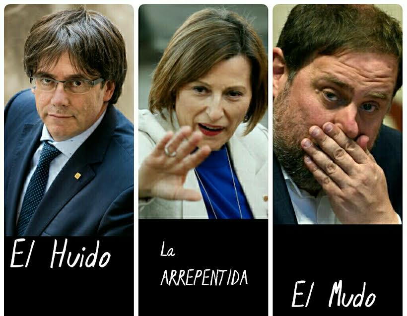 Puigdemont Forcadell Junqueras