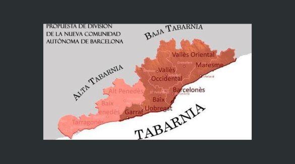 mapa de tabarnia tarragona y barcelona