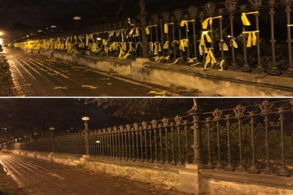 TABARNIA limpia las calles de Cataluña