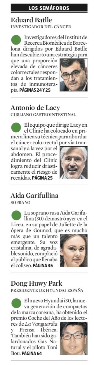 Semáforo verde para el Dr. Antonio de Lacy