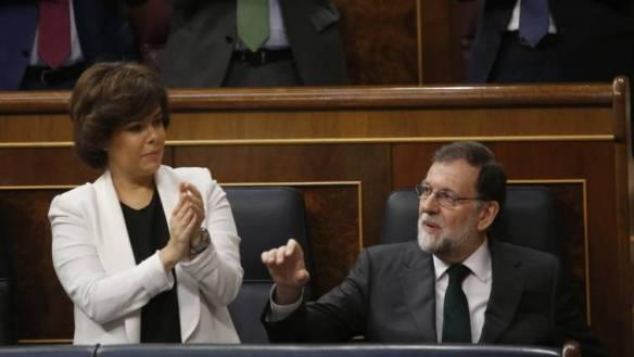 Partido Popular Mariano Rajoy y Soraya