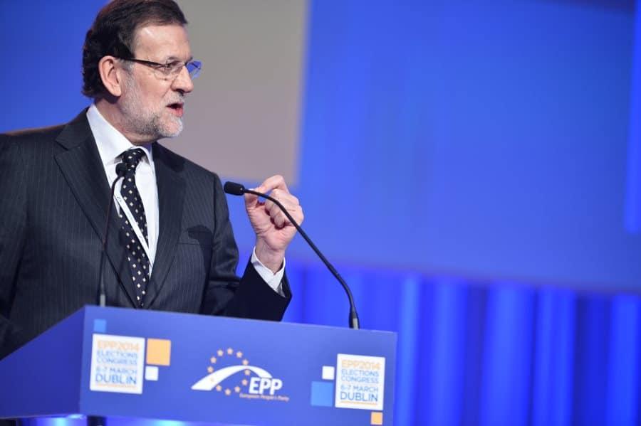 Mariano Rajoy enfadado con Pablo Casado