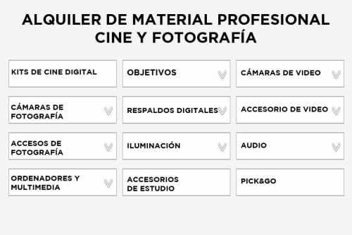 Los equipos de audiovisuales profesionales al alcance de todo el mundo.