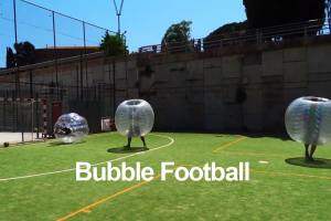 bubble football y archery tag