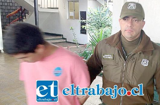 El detenido Jonathan Alejandro Quiroz Gómez de 31 años proveniente de la comuna de Quillota, fue capturado por Carabineros.