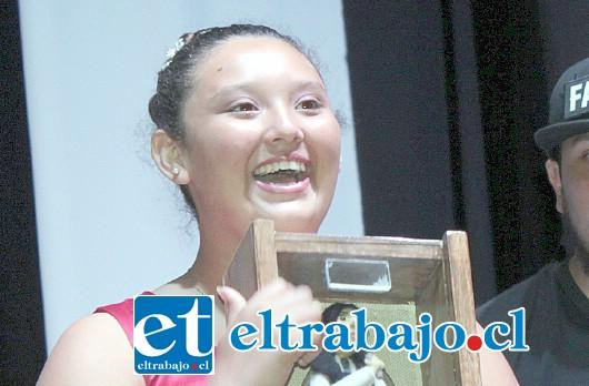 SIEMPRE CELESTE.- Celeste Pulgar, ganadora del festival en la categoría Básica.