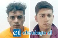 Germán Bustos Sepúlveda y Byron Miranda Castro se encuentran actualmente como imputados en la cárcel de San Felipe por el delito de robo con intimidación.