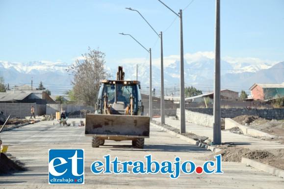 YA CASI.- Para el próximo mes, entre el 5 y 9 de julio, se estará entregando a la comunidad el Proyecto Construcción Circuito Calle San Martín Hermanos Carrera Oriente.