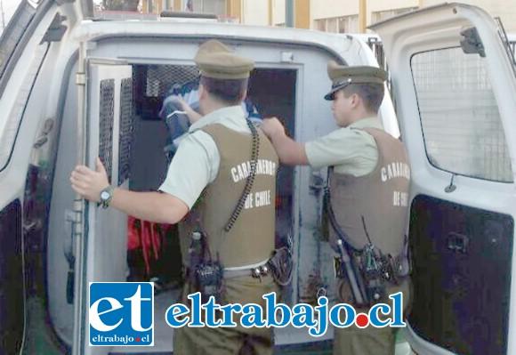 El enjuiciado deberá cumplir su condena en la cárcel por robo con intimidación ocurrido en la Villa Departamental de San Felipe. (Foto Archivo).
