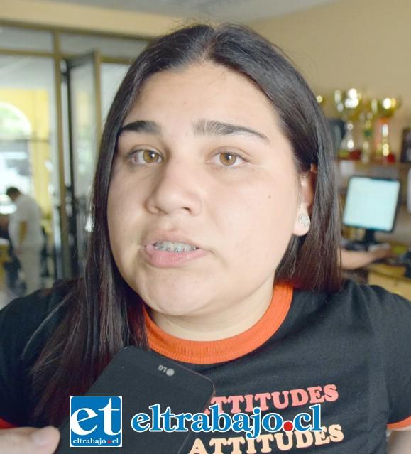 Fernanda Rojas, Tercero Medio del Liceo Panquehue.