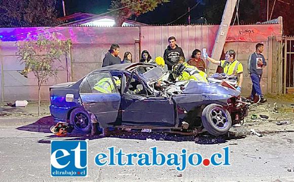 El accidente ocurrió a primera horas de este domingo en calle Encón de San Felipe.