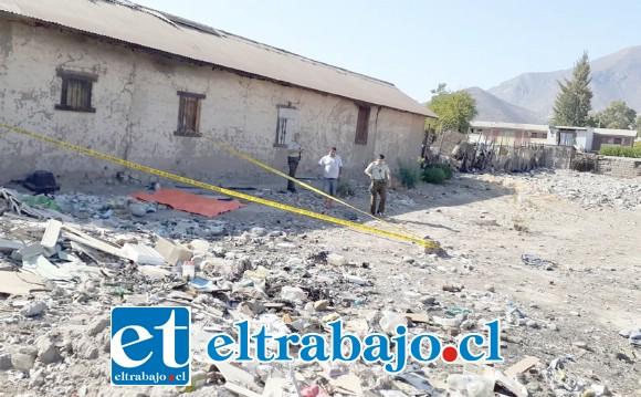 El cuerpo del recién nacido fue hallado en este basural ubicado en calle Ducó de San Felipe el pasado 14 de enero de este año.