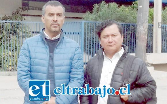 Cristian Cortez (a la izquierda) junto al concejal de Catemu José Vergara.