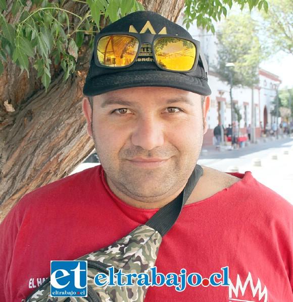 Wilson Castro, vendedor ambulante.