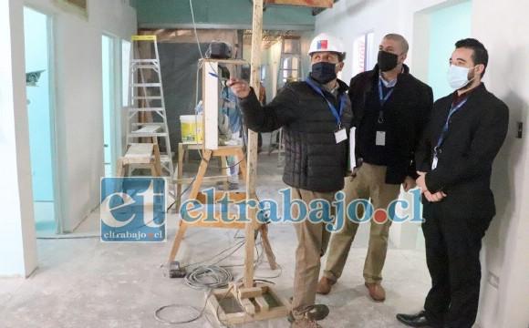 Los trabajos de construcción de la infraestructura para la próxima instalación del Resonador Magnético, el primero del sector público en el Valle del Aconcagua, estaría lista en el mes de junio.