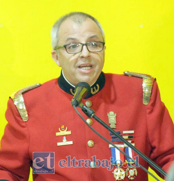 Julio Hardoy Baylaucq, superintendente del Cuerpo de Bomberos de San Felipe.
