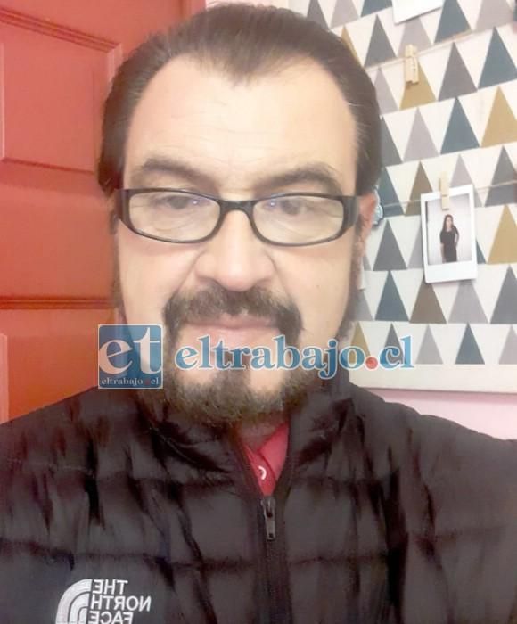Manuel Vicencio, aficionado a la meteorología local.