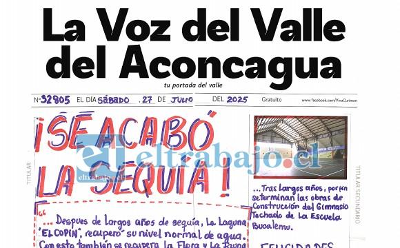 Esta es la portada ganadora confeccionada por José Tomás Figueroa Cárcamo.