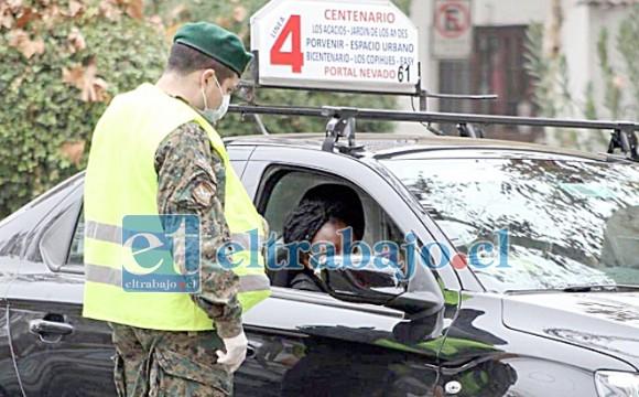 La agresión se registró en un control de rutina efectuado por personal del Ejército en el sector de El Almendral. (Foto archivo).