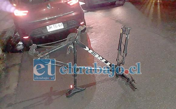 El marco de una de las bicicletas