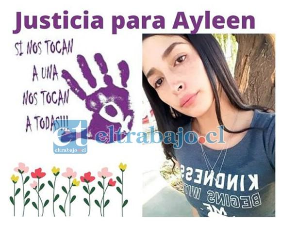 Ayleen Varas Ahumada (23), madre de tres hijos, fue encontrada en un canal de regadío en Villa Los Acacios, en Los Andes, el pasado 26 de marzo. (Foto Facebook Justicia para Ayleen)