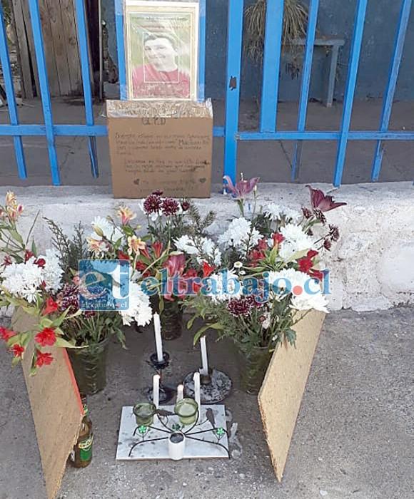 La animita donde se recuerda a Mauricio Venegas Cordero.