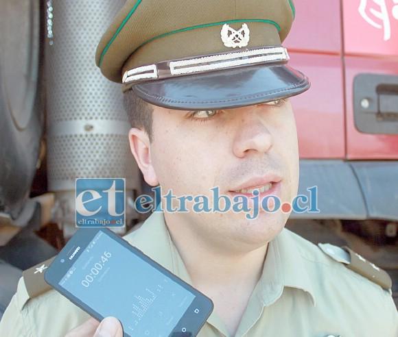 Teniente Marcelo González, jefe de la Tenencia de Putaendo.