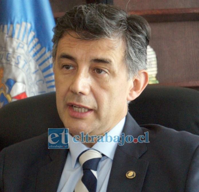 Subprefecto y director de la Bicrim San Felipe, Marco León.