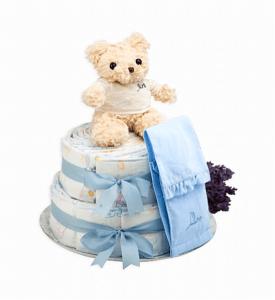 Regalos útiles para bebés tarta de pañales