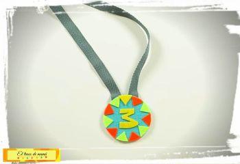 Medalla para cumpleaños infantil