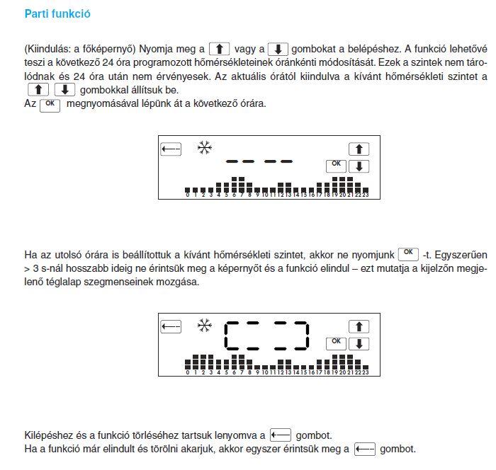Parti funkció beállítása - Finder 1C.71.9.003