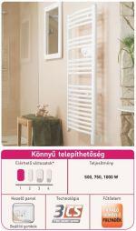 Thermor Riva2 elektromos fürdőszobai radiátor falra szerelve, Könnyű telepíthetőség