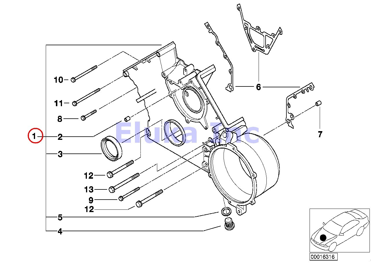 Bmw Genuine Lower Timing Case Lower Timing Cover