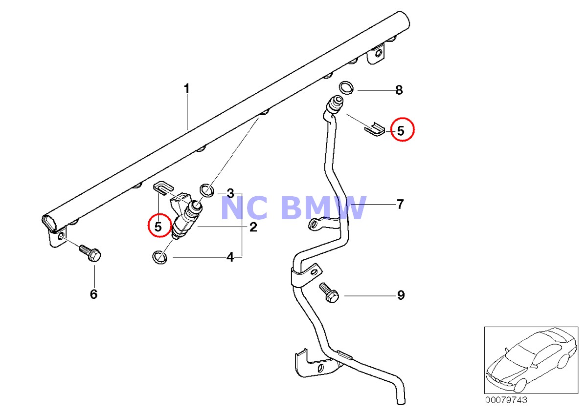 Bmw Genuine Fuel Injection Injector Clip