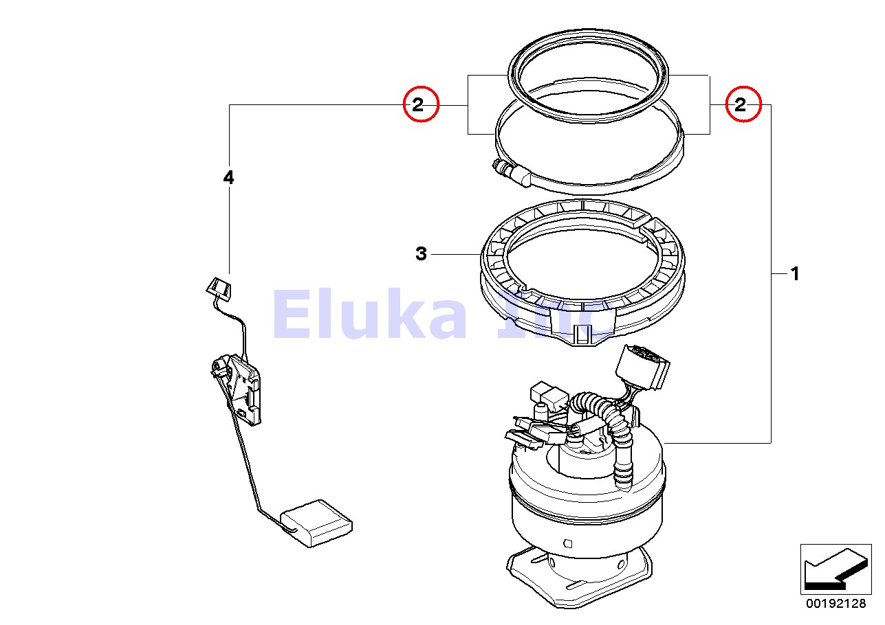 Bmw Genuine Seal With Clamp For Fuel Pump Right E82 E88