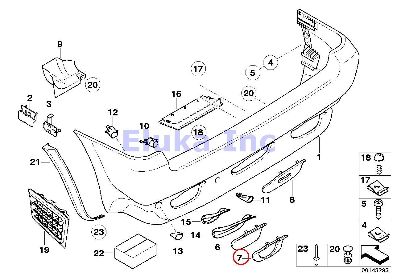 Bmw Genuine Rear Left Covering