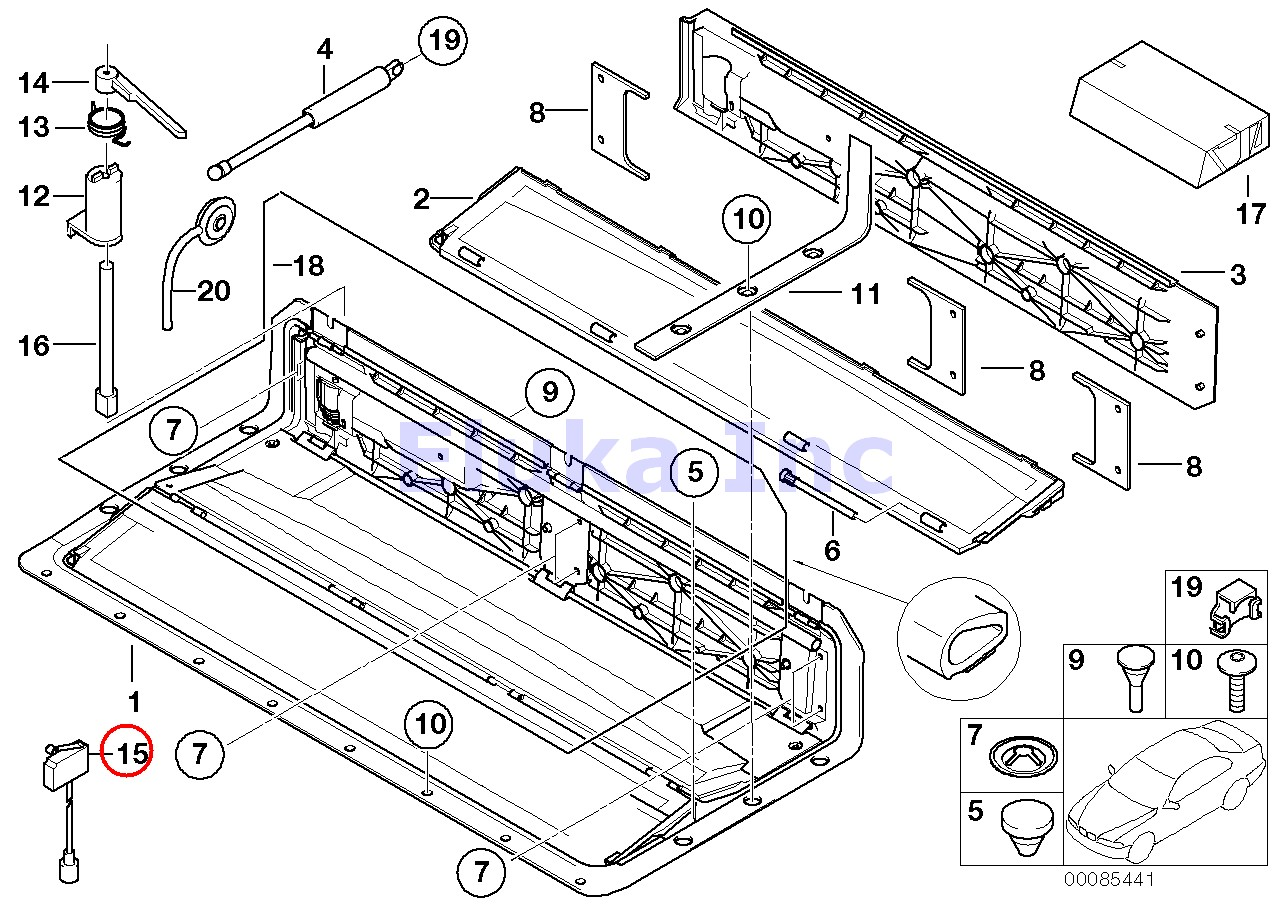 Bmw Genuine Folding Convertible Top Compartment Micro