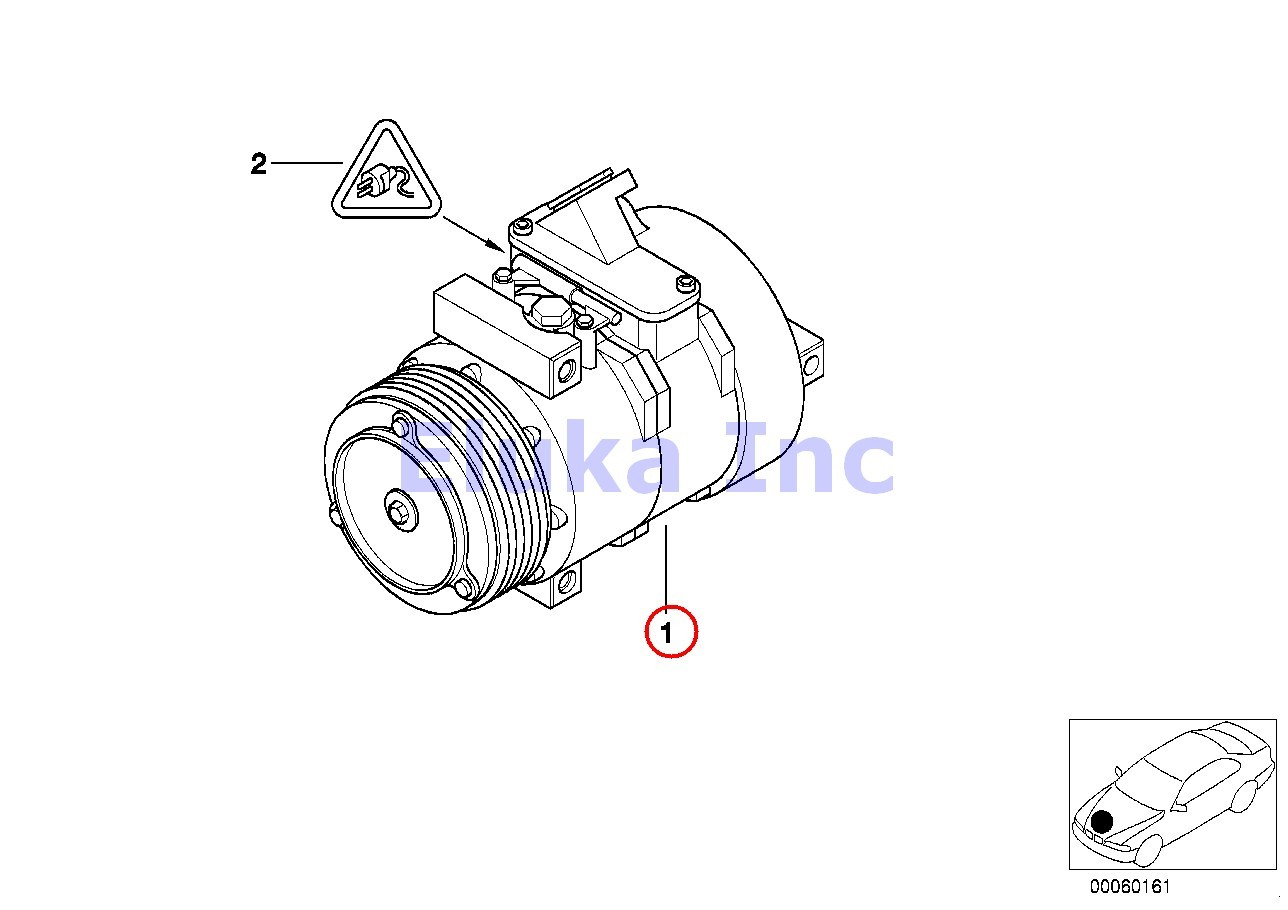 Bmw Genuine Air Conditioner A C Compressor With Clutch E53
