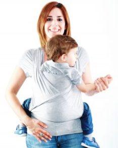 camiseta portabebe quokkababy con niño grande