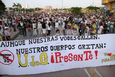 Las protestas estudiantiles se hacen sentir.